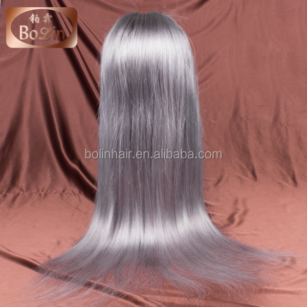 wholesale hair products grey hair wigs for women ombre grey long straight 100 virgin indian human hair full lace wigs