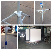 Floor stand portable tripod projector screen