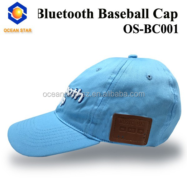 bluetooth cap with headphone headset earphones stereo speakers