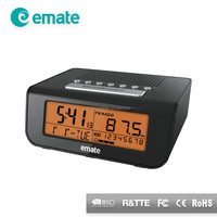 CN promotion radio clock with alarm clock, current time diplay