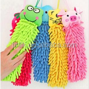 Multi-functional High Absorbent Children Cartoon Microfiber Chenille Hand Towel