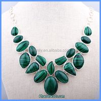 Wholesale Luxury Green Malachite Natural Gemstone Necklaces GN-N001