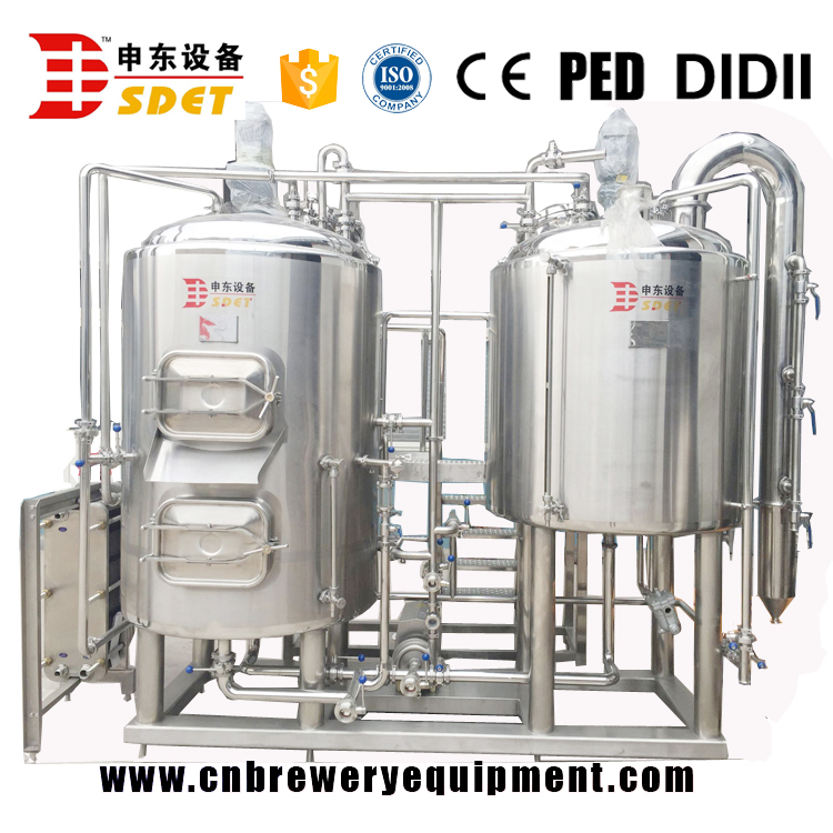Long service life 3 vessels 1000L beer brewing equipment for brewery