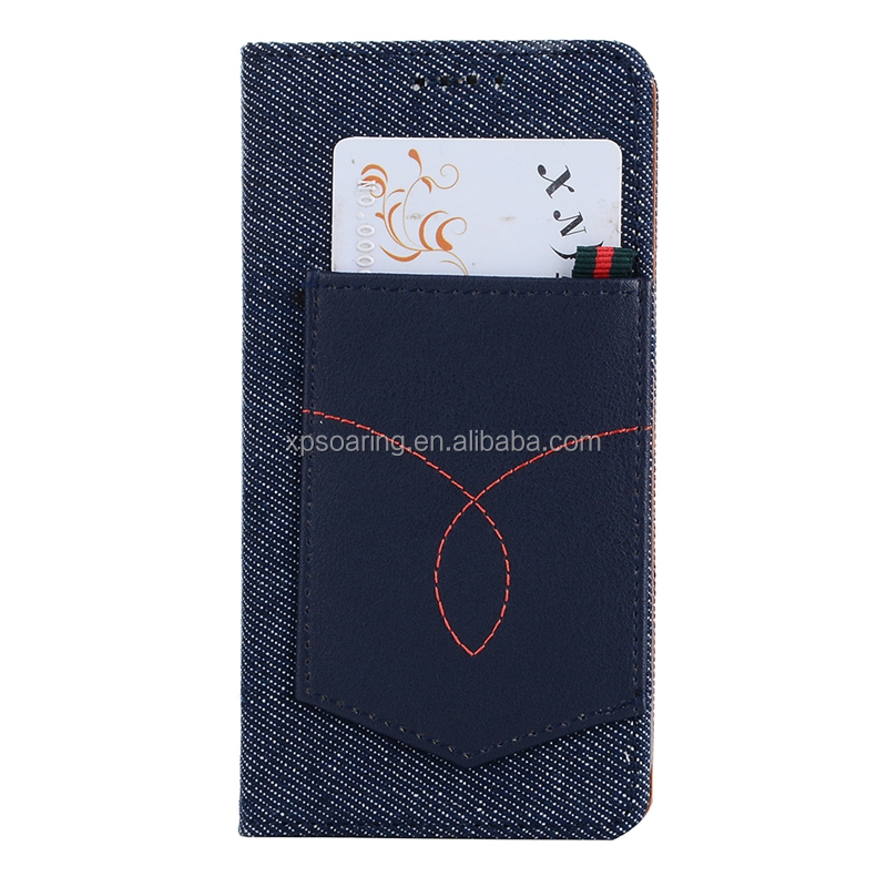Magnet flip Jeans PU flip leather case for iPhone X