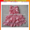 Hot sale wholesale pink indian party dresses for kids chevron baby dress