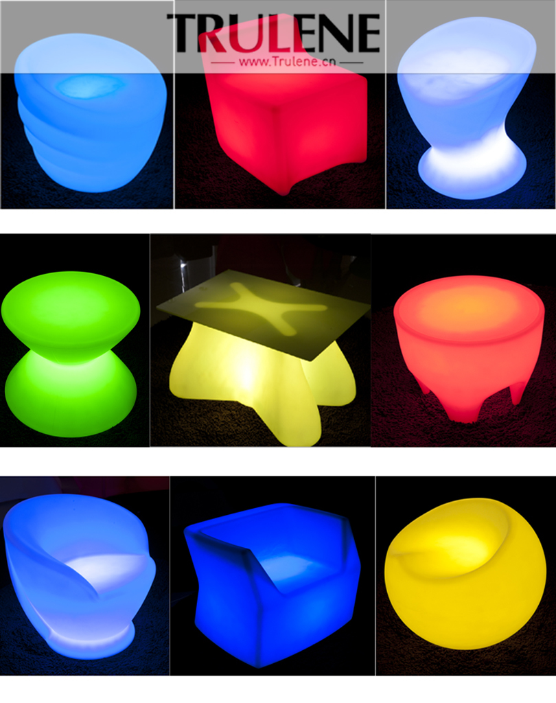 2016 Popular Color Changing waterproof led furniture led table led chairs with CE & RoHS