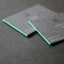 Colorful custom paper letterpress business cards