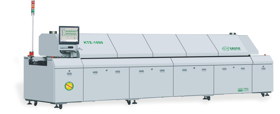 KTE-1000 SMT production line automatic PCB soldering machine 10 zones lead free reflow oven