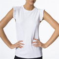 Women fashion muscle tank tops with ribbing fabric
