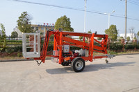 hydraulic trailing spider man lift platform
