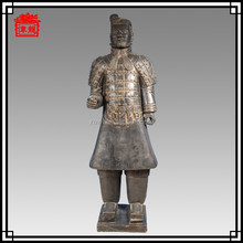 1.7m black pottery, antique statues reproduction, terracotta warriors