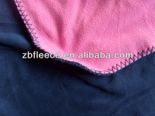 100% polyester antipilling/not antipilling polar fleece two layers bonded fabric