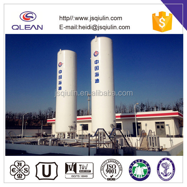 vertical cryogenic storage tank for liquid industrial gas