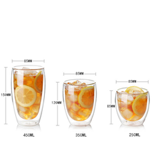 Wholesale Customized Double Layer Clear Coffee Tea Glass Cups