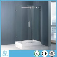 Crown high quality rectangular low ABS tray sliding shower enclosures, portable showerr cubicles