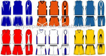 100% Polyester Sublimation Reversible Basketball Jersey