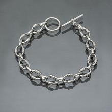 silver/brass chain as bracelet