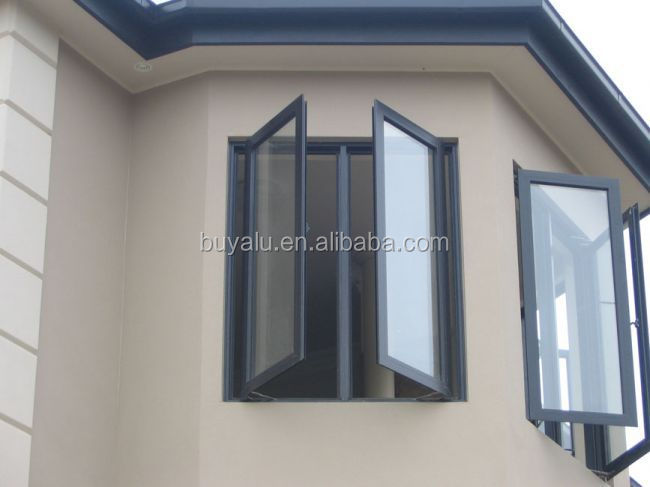 2013 Hot Year Aluminium window double leaf double swing window