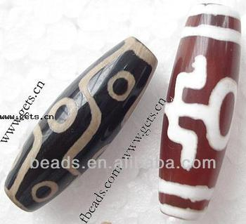 2015 Gets.com tibetan agate 10X30mm tibetan dzi beads