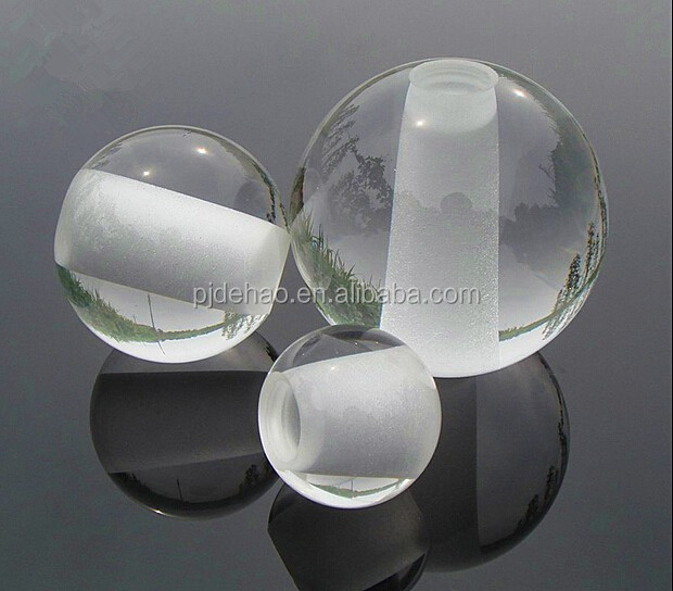 Factory Direct Sale K9 Crossing Hole Crystal Ball Glass Ball with Hole