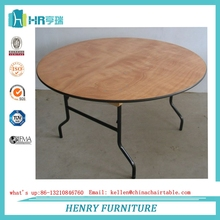 Plywood Foldable Banquet Wedding Round Table