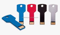 Wholesale free logo printing gadget usb key, best quality 100% real capacity key usb 2.0 Key USB with Paypal Free LOGO