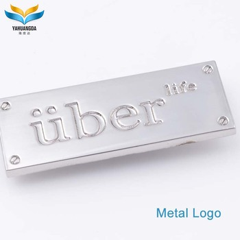 hot selling custom metal clothes brand logo label for garments accessories