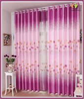 New flower style home textile window curtain