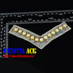 New design ladies shoes upper with crystal rhinestones for decoration