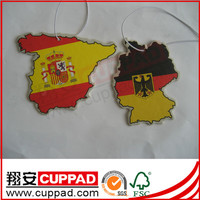 New design,custom paper car air freshener for promotion for decoration