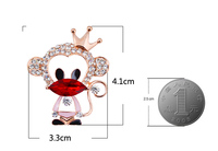 Fashion Hat Clip Jewelry Double Usage Brooch Pin Small Cute Monkey Animal Brooch Pin Clip For Young Girl