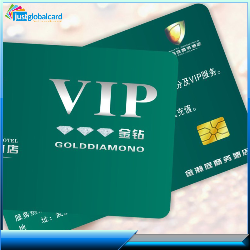 Cheap price plastic golden vip membership business card with holographic hot stamping