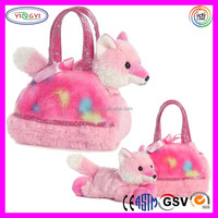 B644 Plush Soft Pet Carrier Bag Tye Dye Pink Global Pet Products Dog Carrier