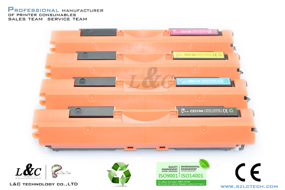 China supplier for CE310A color toner for Hp laser printer 126A toner cartridge