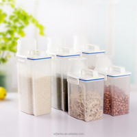 Food Grain Plastic Cereal Bean Rice Candy Storage Box Containers Kitchen Tool