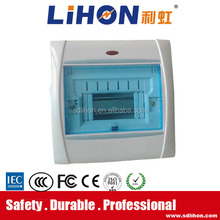 plastic busbar electrical control panel box with luminous bar and light
