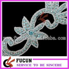 Fashione wedding dress decorations rhinestone beads appliques to sew