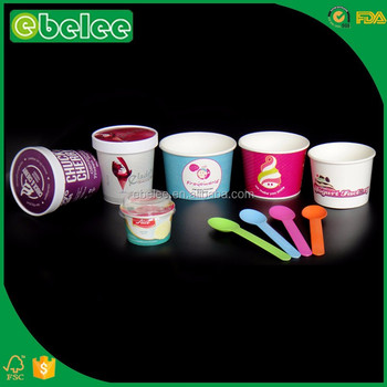 EBELEE customize paper cup ice cream container