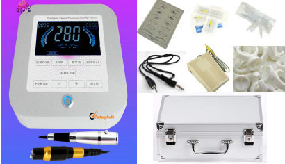 high quality Professional Permanent Make up tattoo machine LCD power supply