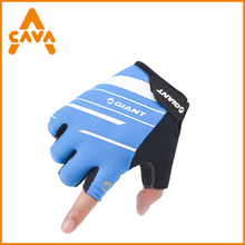 New custom heated fingerless mountain bike cycling gloves with gel