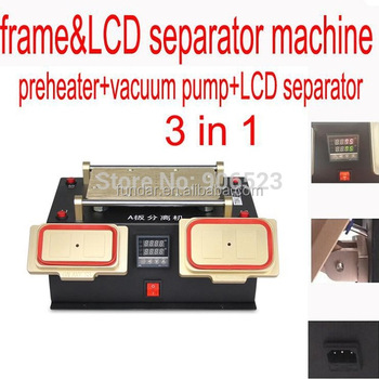 Bezel Middle Frame LCD Separator Machine bulit-in Vacuum pump Separate LCD touch screen Refurbish for samsung galaxy S5 S4