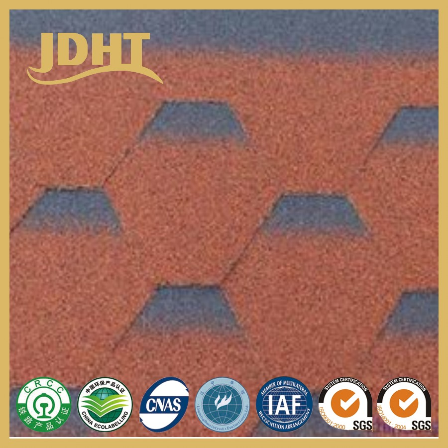 W100 JD-253 Glass fiber filler asphalt villa roof waterproof asphalt shingle