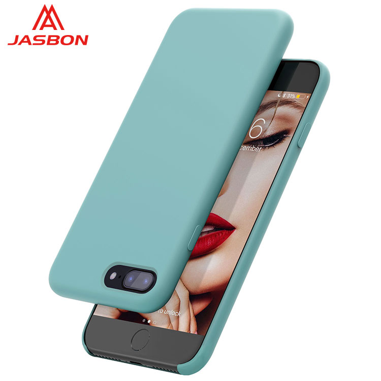 JASBON liquid silicone half protective smart phone case for iphone 7 PLUS and iphone 8 PLUS