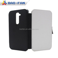 Blank Sublimation phone cases leather flip cover for LG G2