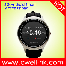 2016 Touch Screen GPS WiFi Bluetooth Wearable Smart Watch Phone, 3G WCDMA Wearable Android Watch Phone
