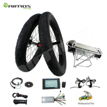 light weight battery powered rear wheel electric bike kit with Rear Brushless hub motor
