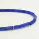 Natural Stone Beads Cylinder Shape Blue Jade Loose Beads