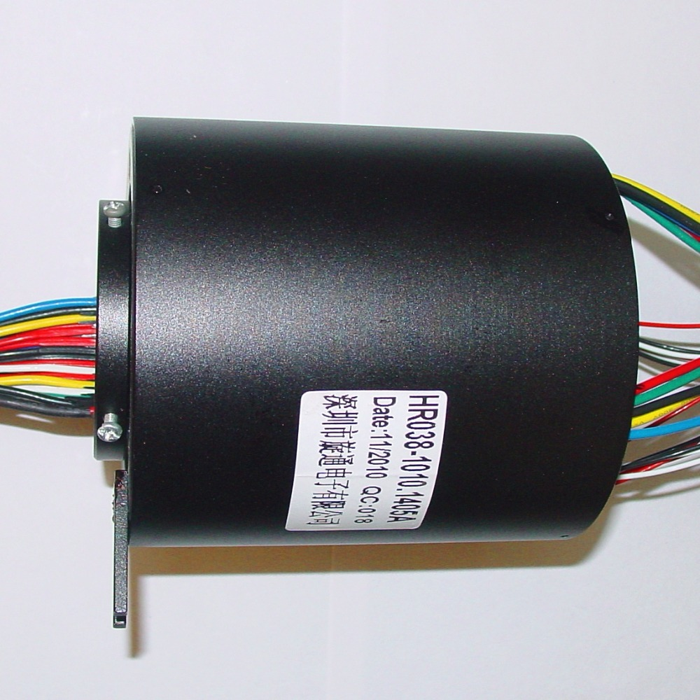 rotary electrical interface, through bore slip ring,connector,electric swivel slip electrical rotary joint.model:HR038-2410