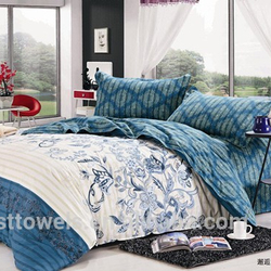 High quality cotton fantasy ribbon embroidery bedding set