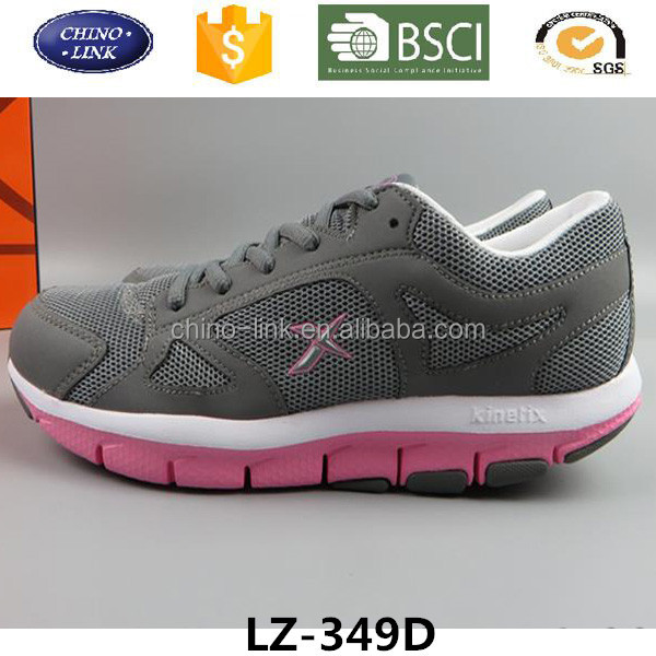 Lace up mesh upper women sport shoes and sneakers, easy to match running shoe, lightweight zapatos deportivos wholesale